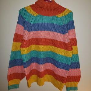 Chunky Rainbow Pastel Sweater